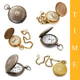 Conjunto del reloj de bolsillo Imagen de archivo libre de regalías