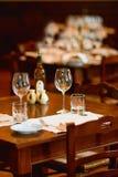 Conjunto del restaurante Imágenes de archivo libres de regalías