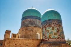Conjunto del Sah-yo-Zinda en el camino de seda viejo en Samarkand, Uzbekis imagen de archivo