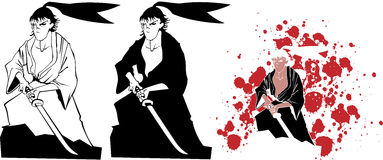 Conjunto del samurai Imagenes de archivo