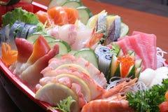 Conjunto del Sashimi Imágenes de archivo libres de regalías