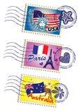 Conjunto del sello Fotografía de archivo libre de regalías