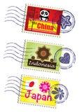 Conjunto del sello Fotos de archivo libres de regalías