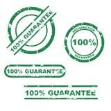 conjunto del sello de la garantía del 100% Fotos de archivo