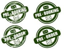 Conjunto del sello del grunge pre de la reservación/de la orden Imagen de archivo libre de regalías