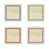 Conjunto del sello, dimensión de una variable cuadrada Fotografía de archivo