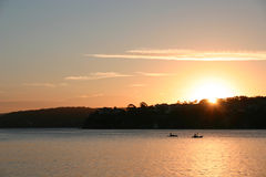Conjunto del sol de Cronulla Fotografía de archivo