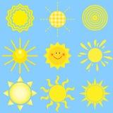 Conjunto del sol del vector stock de ilustración