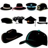 Conjunto del sombrero Fotos de archivo libres de regalías