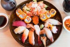 Conjunto del sushi Foto de archivo libre de regalías