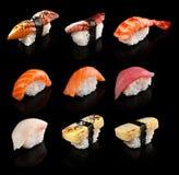 Conjunto del sushi Fotografía de archivo