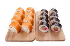Conjunto del sushi Fotos de archivo libres de regalías