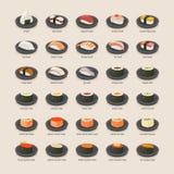 Conjunto del sushi Imágenes de archivo libres de regalías