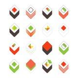 Conjunto del sushi Elementos planos del diseño aislados en blanco ilustración del vector