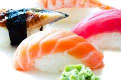 Conjunto del sushi japonés Fotos de archivo libres de regalías