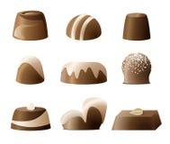 Conjunto del sweetie del caramelo de Chockolate Imágenes de archivo libres de regalías