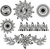 Conjunto del tatuaje Foto de archivo