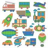 Conjunto del transporte Imagen de archivo libre de regalías