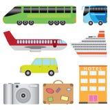 Conjunto del transporte del turismo. Imágenes de archivo libres de regalías