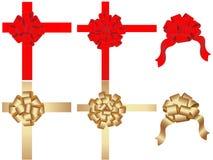 Conjunto del vector de arqueamientos decorativos stock de ilustración