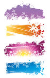 Conjunto del vector de banderas del color Fotos de archivo libres de regalías