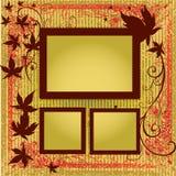 Conjunto del vector de bastidores con las hojas del otoño. Thanksgivi Foto de archivo