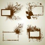 Conjunto del vector de bastidores del grunge de la vendimia Imagen de archivo libre de regalías