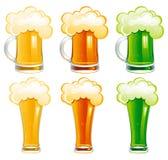 Conjunto del vector de cerveza Imagen de archivo