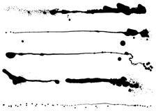Conjunto del vector de diversos movimientos de la tinta Fotografía de archivo libre de regalías