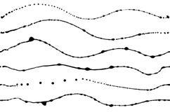 Conjunto del vector de diversos movimientos de la tinta Foto de archivo libre de regalías