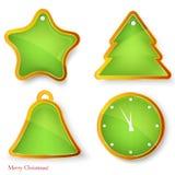 Conjunto del vector de elementos de la Navidad. Fotografía de archivo