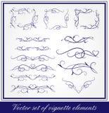 Conjunto del vector de elementos del diseño Imagen de archivo libre de regalías