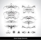 Conjunto del vector de elementos del diseño Imagen de archivo