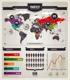 Conjunto del vector de elementos del infographics. Imagen de archivo libre de regalías