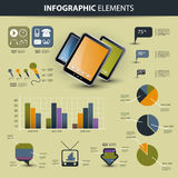 Conjunto del vector de elementos infographic Foto de archivo libre de regalías