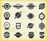 Conjunto del vector de escrituras de la etiqueta retras Foto de archivo libre de regalías