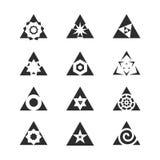 conjunto del vector de flechas Imagen de archivo libre de regalías