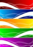 Conjunto del vector de fondo colorido Imagenes de archivo