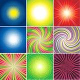Conjunto del vector de fondos brillantes multicolores