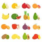 Conjunto del vector de frutas Fotografía de archivo libre de regalías