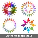 Conjunto del vector de iconos de la gente Fotografía de archivo libre de regalías