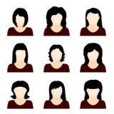 Conjunto del vector de iconos de la gente Imágenes de archivo libres de regalías