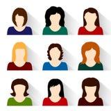 Conjunto del vector de iconos de la gente Imagenes de archivo