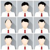 Conjunto del vector de iconos del hombre de negocios Fotos de archivo