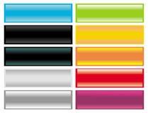 Conjunto del vector de iconos vacíos del Web ilustración del vector