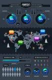Conjunto del vector de infographics stock de ilustración