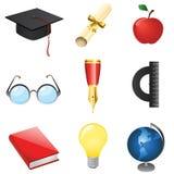 Conjunto del vector de la educación