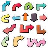 Conjunto del vector de la flecha stock de ilustración