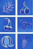 Conjunto del vector de la fruta Fotografía de archivo libre de regalías