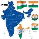 Conjunto del vector de la India. Imagen de archivo libre de regalías